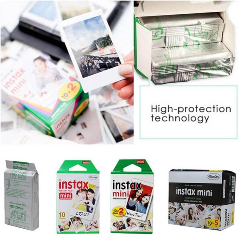 10/ 20/ 50 PCS Fuji Instax Mini 8 9 50 70 90 Sofortiger weißer Film für Fujifilm 6