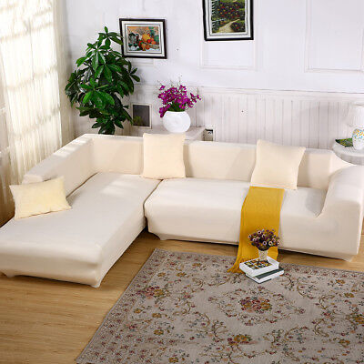 Universal Stretch Chair Sofa Covers 1 2 3 4 Seater Protector Couch Slipcover US 9