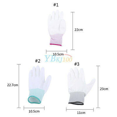 20 Pairs Grey PU Fingertip ESD Coated Anti-static Antiskid Gloves Non-slip PC ko