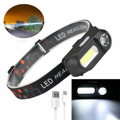 6 Modes USB Rechargeable COB LED Headlamp Headlight Head Light Torch Flashlight 6