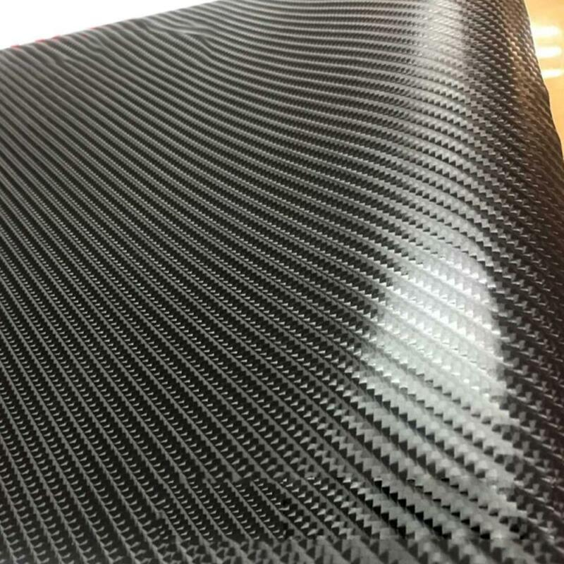 Super Gloss Carbon Fiber Vinyl Film Wrap Bubble Free Air Release 6D Car-Sticker 8