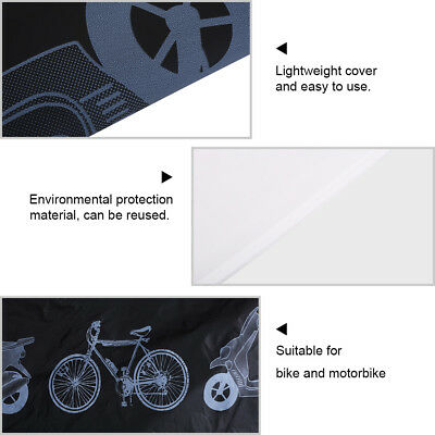 Motorcycle Motor Bike Scooter Waterproof UV Dust Snow Proof Protector Rain Cover 12