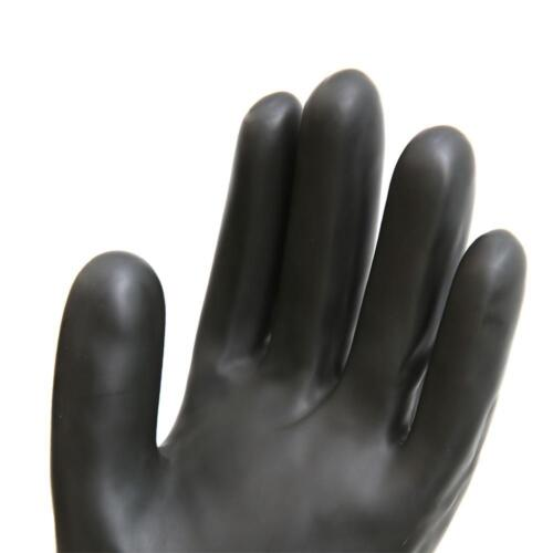 Schwarze Latex Stulpen HandschuheSäure- und laugenb Industriell  Naturkautschuk 5