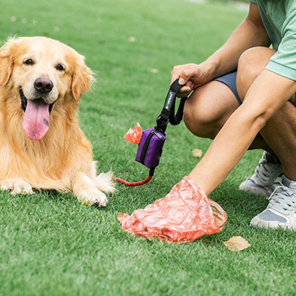 Pet Dispenser Waste Dog Poo Puppy Pick-Up Bags Travel Poop Bag Holder Hook Pouch 4