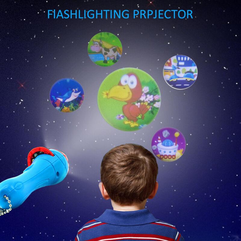 Kinder Taschenlampe Taschen Lampe Lichtprojektor Leuchte LED Nacht Licht