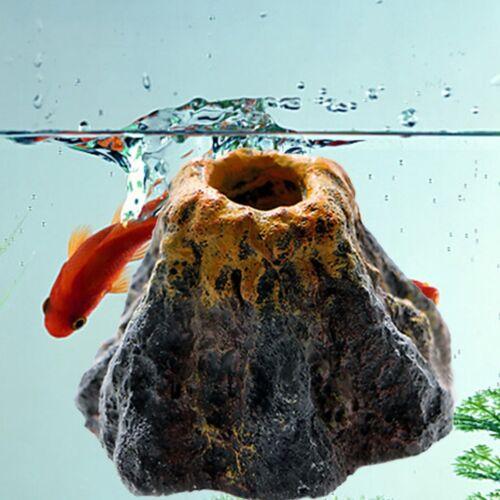 Aquarium Volcano Shape Oxygen Pump Fish Tank Air Bubble Stone Ornament-Decor