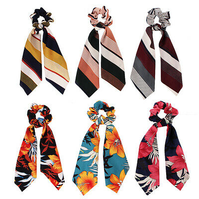 Attractive Ponytail Scarf Bow Elastic Hair Rope Tie Scrunchies Ribbon Hair Bands 7