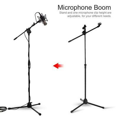 Professional Boom Microphone Mic Stand Holder Adjustable With 2 Free Clips UKGT 4