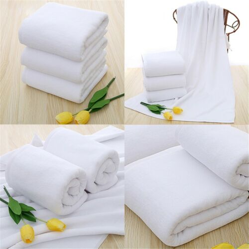 "Soft 70*140cm Luxury Hotel Spa Bath Towel Warmer Cotton White Towels#"" 4"