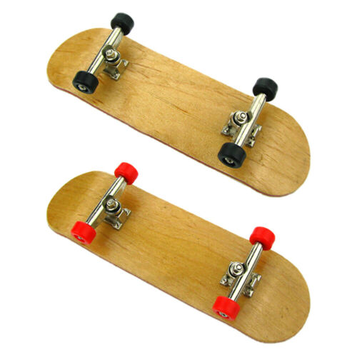 New Complete Wooden Fingerboard Finger Skate Board Grit Box Foam Tape Maple Wood 2
