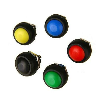 5Pcs colored 12mm Waterproof Momentary ON/OFF Push Button Mini Round best 4