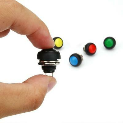 5Pcs colored 12mm Waterproof Momentary ON/OFF Push Button Mini Round best 5