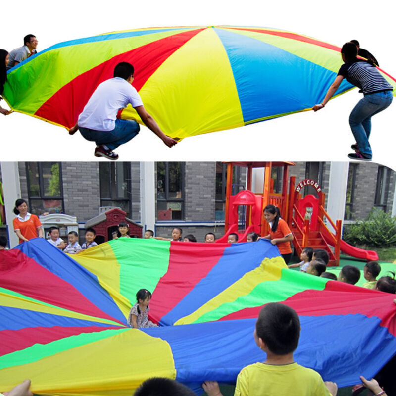 2-4M Kids Play Parachute Large Children Rainbow Outdoor Game Exercise Sport Toy 2