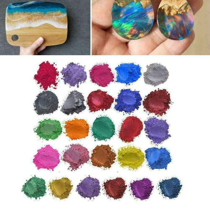 20 Colors Luminous Powder Resin Pigment Dye UV Resin Epoxy DIY Making Jewelry 7
