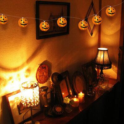 10 LED Pumpkin String Fairy Lights Lantern Party Home Props Halloween Decoration 9