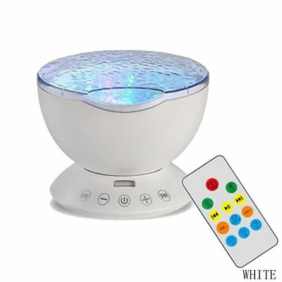 Relaxing Ocean Wave Music LED Night Light Projector Remote Lamp Baby Sleep Gift 8