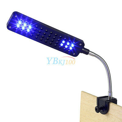 48 LED Aquarium Fish Plant 2 Mode Clip White&Blue Light Bulb Lamp Adjustable US 11