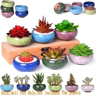NEWEST Ice-Crack Glaze Flower Ceramics Succulent Plant Mini Pot Garden Flowerpot 5