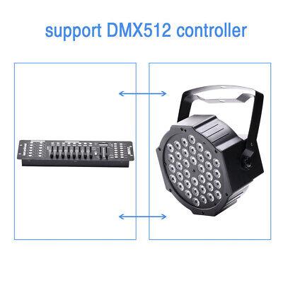 U`king 8PCS RGB 80W Stage Lighting DMX512 Par Can Color Mixing Party Wedding KTV 4