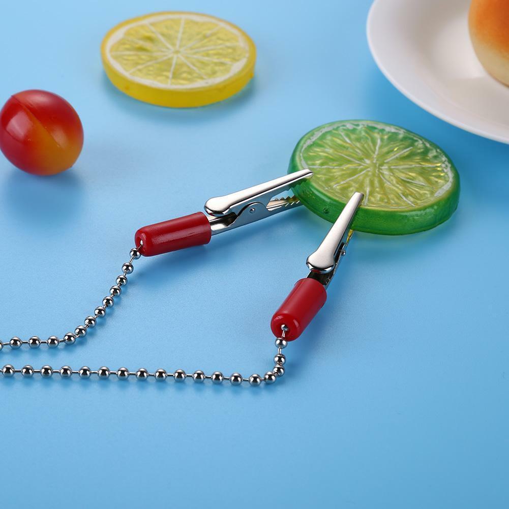 1pcs Dental Lab Bib Clips Napkin Holder Flexible Ball Chain Bib Clips Dentist 6