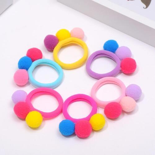 3X Cute 3 Balls Elastics Hair Holders Bands Gum Lovely Candy Kids Girls R ffvv 2