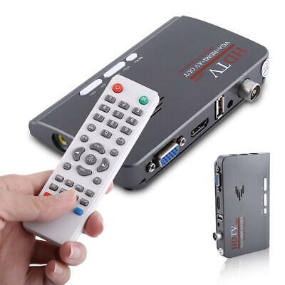Decoder Ricevitore Digitale Terrestre DVB-T2/T 1080P TV BOX VGA HDMI AV USB EU 12