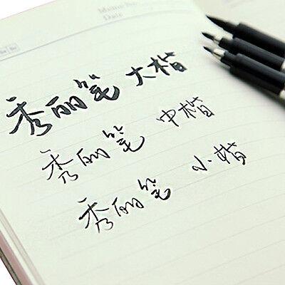 3Pcs Chinese Pen Japanese Calligraphy Writing Art Script Painting Tool Brush Set 11