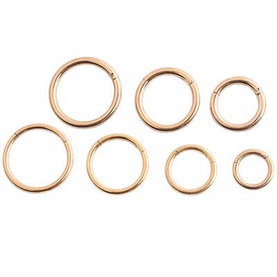 Septum Clicker Nose Ear Tragus Hinged Segment Ring Titanium Colour 1.2mm 1.6mm 7