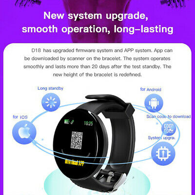 Smart Watch Fitness Sport Activity Tracker Heart Rate Monitor For Android iOS 5