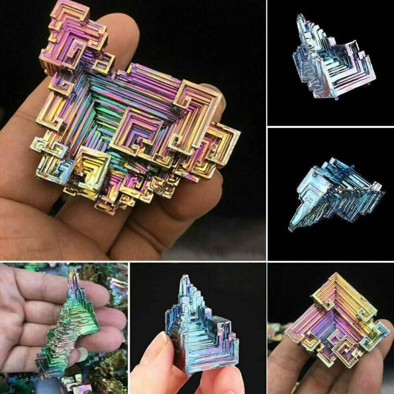 Top Natural Quartz Crystal Rainbow Titanium Cluster VUG Mineral Specimen Healing 3