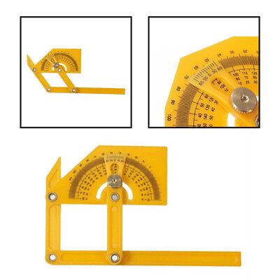 Plastic Angle Finder Protractor Goniometer Miter Gauge Arm Measuring Ruler Tool 2