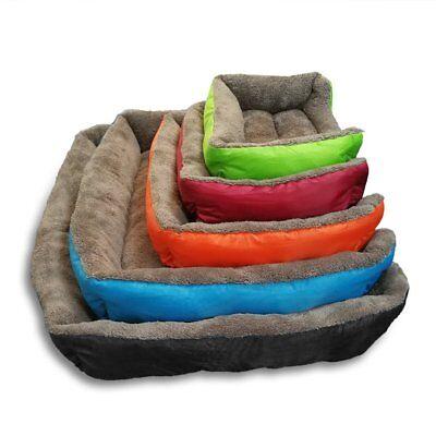 Large soft warm mat pet kennel dog mat cat bed washable candy color square nest 7