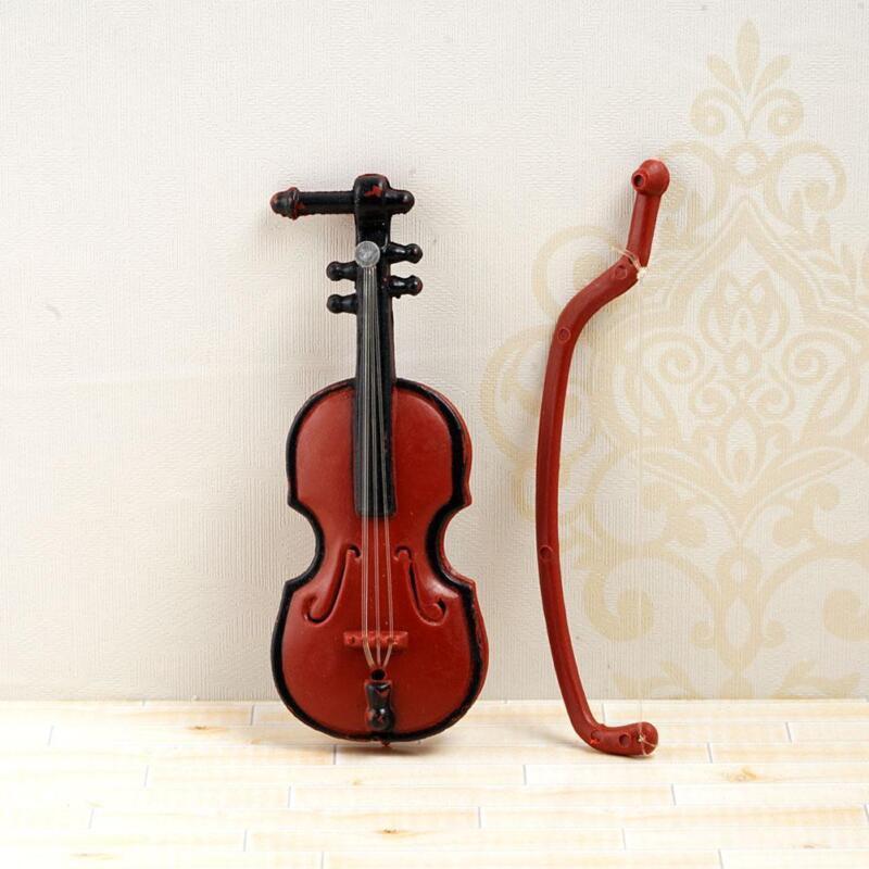 1:12 Doll House Miniature Music Instrument Violin Model Room Mini-Instrument New 11