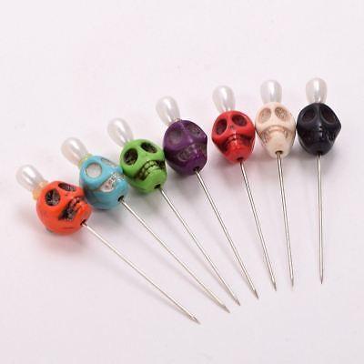 7pcs Skull Head Pattern Pins Evil Voodoo Curse Needles Voodoo Doll Accessory 4