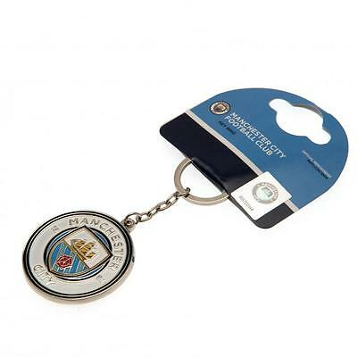 Manchester City FC Official Football Club Crest  Keyring FREE (UK) P+P 3