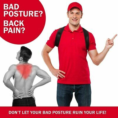 Corrector de Postura espalda unisex,correa ajustable 70 a 110 cm,reduce el dolor 5