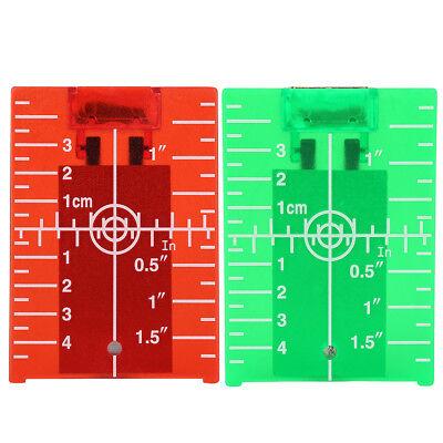 Zieltafel Laserzieltafel mit Magnethalterung Laser-Level Platte Rot Grün Farbe