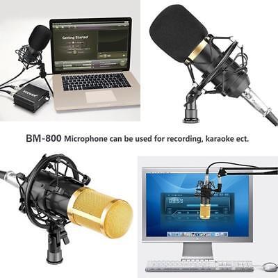 BM800 Condenser Microphone Kit Pro Audio Studio Recording & Brocasting ☆ ☆ 5