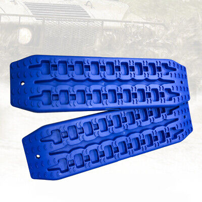 NEW Pair Recovery Tracks Sand Track 2pc 10T Sand / Snow / Mud Trax 4WD Blue 9