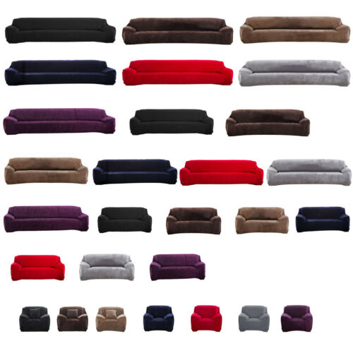 1/2/3/4 Sofa Couch Slipcover Stretch Covers Elastic Fabric Settee Protector Fit 2