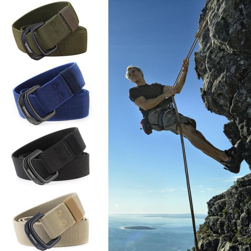 Adjustable Men's Elastic Nylon Belt Combat Waistband Outdoor Tactical Sport Belt 2