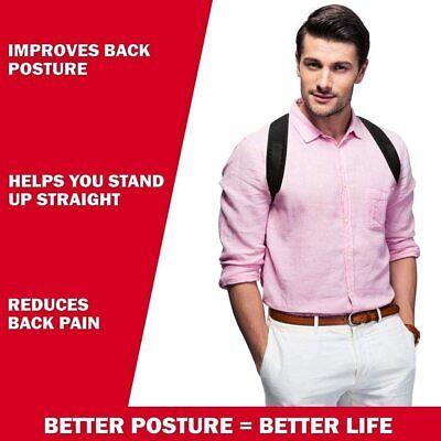 Corrector de Postura espalda unisex,correa ajustable 70 a 110 cm,reduce el dolor 8