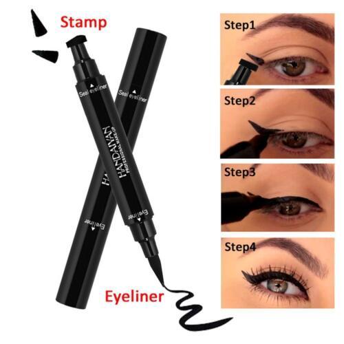 Winged Eyeliner Stamp Waterproof Makeup Womens Eye Liner Pencil Black Liquid·Hot 10