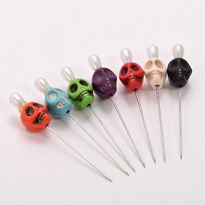 7pcs Gothic Skull Pattern Pins Evil Voodoo Curse Needles Vent Toys for Adults 8