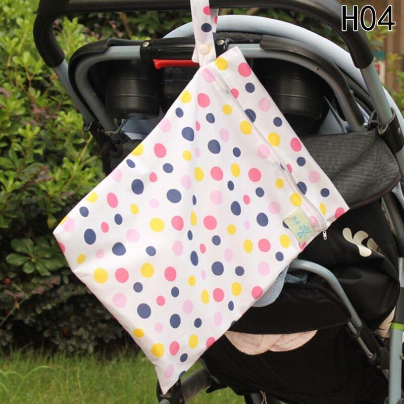 Infantil impermeable Zip Bolsa seca húmeda Paño bebé Pañal Bolsa Reutilizable 10