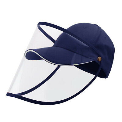 Full Face Covering Shield Anti Saliva Visor Baseball Cap Hat Protective Cover 5