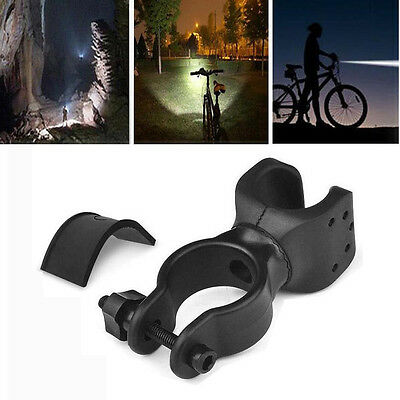 1pc 360° Mountain Bike LED Flashlight Mount Holder Bicycle Torch Clip Clamp US