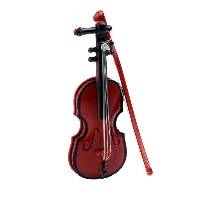 1:12 Doll House Miniature Music Instrument Violin Model Room Mini-Instrument New 5