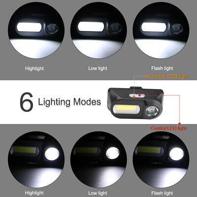 6 MODES Projecteur étanche Rechargeable LED Lampe Frontale Phare + batterie