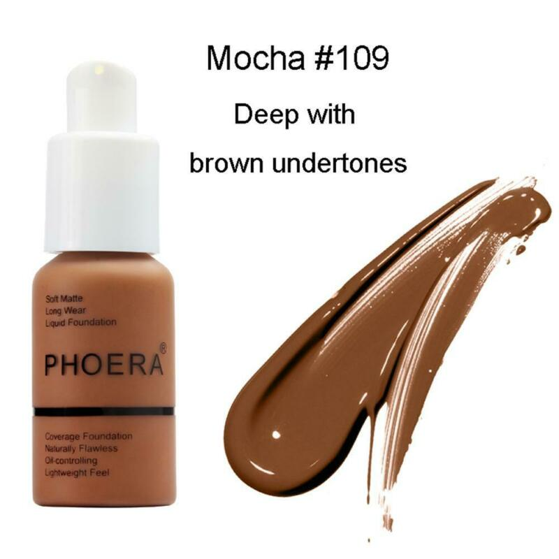 PHOERA Soft Matte Oil Full Coverage Liquid Foundation Concealer Longlasting 30ML 11